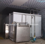 Surgélation fluidisée de matériel de réfrigération