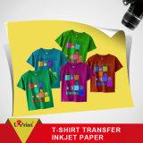 Papier de photo de transfert thermique du papier de transfert de T-shirt de couleur foncée de jet d'encre 300GSM