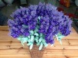 Fleurs artificielles de violette 33cm bleu-clair