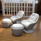 Freizeit-einzelnes Sofa-Rattan-Sofa-im Freienfreizeit-Garten-Sofa (S102)
