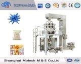 Multi máquina de embalagem principal das microplaquetas de chocolate dos doces do pesador
