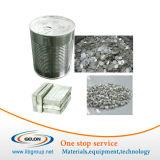 99,9% de alta pureza metal Lithlium papel aluminio / Franja de ion de litio