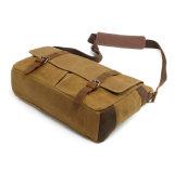 Fábrica Wohlesales bolso ceroso impermeable de la cámara del bolso del mensajero de la lona de 16 onzas