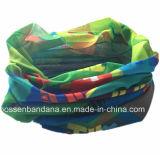 Bandana de couleur chamois sans joint d'écharpe de tube de Microfiber de polyester fait sur commande