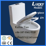 Пол - установленный цельный туалет ванной комнаты в санитарных изделиях