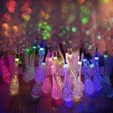 20 LEIDENE van de Lichten van het Koord van de LEIDENE Zonne het Aangedreven Daling van het Water Licht van Kerstmis