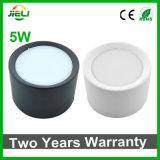 Buena calidad 5W/negra de SMD5730 LED montado superficie blanca Downlight