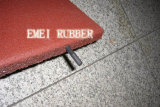 Sans-Adhésif non facile d'enrouler le couvre-tapis en caoutchouc