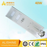 40W Productos solares al aire libre Sensor de movimiento LED Street Light