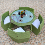 Vector de la rota del PE del ocio del café del patio de la terraza del jardín y muebles al aire libre creativos de la silla