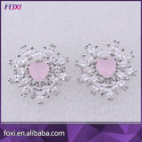 Fashion Hot Sale Beautiful Simple Design White Stone 18k plaqué or CZ Earrings
