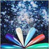 El arco iris mágico del espejo del cromo de la nueva aurora clava el polvo