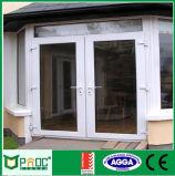 Außendoppelte Schwingen-Öffnungs-Flügelfenster-Aluminiumtür