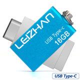 高速USB3.1タイプC Uの棒32g Pendriveの金属16gのペン駆動機構の記憶のメモリUディスク