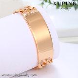 75026 projeto popular do bracelete da jóia de Imatation do ouro do luxo 18K para homens