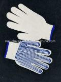 gants de la sûreté 10g tricotés par coton avec des points de PVC