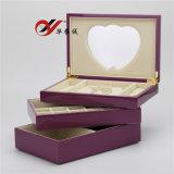 Boîte à bijoux en bois laqué 3 couches