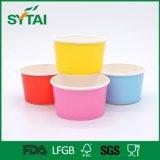 Ciotola rivestita della tazza di carta del gelato del PE su ordinazione a gettare con il reticolo della frutta