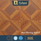 Plancher en bois de stratifié de stratifié de vinyle du chêne AC4 blanc du film publicitaire 12.3mm