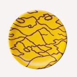 Plaque de sushi de mélamine avec la vaisselle colorée de mélamine de Decoration/100% (QQA006B)