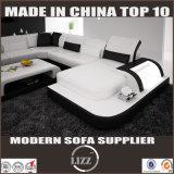 2016 sofá quente do couro da forma da venda U para o uso da sala de visitas