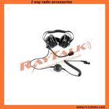 За головным шлемофоном при шум отменяя для двухсторонних радиоих