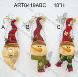 Natale Santa, ornamento capo della decorazione di natale del pupazzo di neve, 3asst