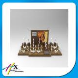 Weinlese-Messeen-Ausstellungsstand-hölzerne Uhr-Bildschirmanzeige mit hohem glattem Lack