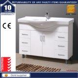 Suelo del diseño moderno - muebles montados de la vanidad del cuarto de baño del MDF