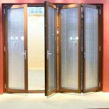 Portes en verre hollandaises Pocket intérieures de première qualité de Lowes avec des abat-jour de garnitures intérieures