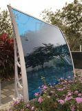 1.0m der Kunststoffträger-Polycarbonat-Blatt schützt Kabinendach mit Aluminiumstreifen
