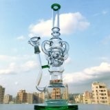 Tubo di fumo di vetro della caffettiera a filtro diritta del tubo di Perc dei Birdcages di spessore tre di Gldg 18inch 7mm