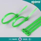 Freie Beispielschwarzes weiße bunte Kabelbinder des SGS-Nylon-66