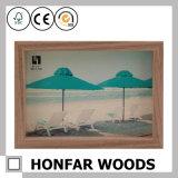 Festes Holz-Schwarz-hölzerner Abbildung-Foto-Rahmen für Hauptdekoration