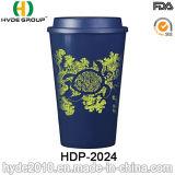 Doppel-wandiges Plastikisoliercup für heißen Kaffee (HDP-2024)