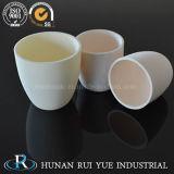 Crogiolo di ceramica dell'alta allumina del refrattario 99.6% per il riscaldamento