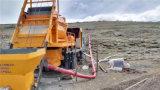 Camión diesel y eléctrico montado gemelo Sharft mezclador de concreto con Bomba