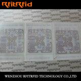 Etiqueta de alumínio inteira da roupa RFID gravura a água-forte RFID