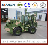 3.5ton Cpcy35 Rough Terrain Forklift with Special Color