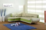 Sofà moderno del cuoio del salone della mobilia domestica (UL-NS033)