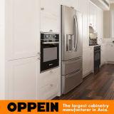 Gabinete de cozinha de madeira do PVC do branco tradicional (OP16-PVC05)
