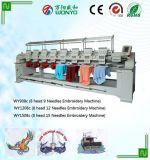 Máquina automatizada de alta velocidad de múltiples funciones del bordado de 4 colores de las pistas 12 del vendedor caliente con el certificado del Ce