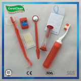 Floss dental Threader da cera ajustada Ortho ortodôntica ortodôntica do jogo do fio da ponte do Toothbrush do jogo
