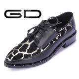 Oben gedruckte Leopard-Freizeit-Müßiggänger-reizvolle Dame-Schuhe sich schnüren