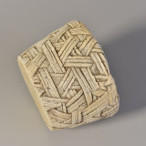 tarro concreto tejido hecho a mano arcaístico de la vela del modelo de la vendimia 404ml