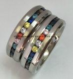 De Juwelen van de manier met de MultiRing van de Vinger van de Stenen van Kleuren