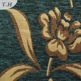 Tela de primeira qualidade do Chenille dourado verde do jacquard de pano (FTH31225)