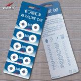 Batteria alcalina delle cellule del tasto di serie AG5