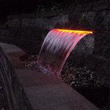 Dekorativer Edelstahl-Wasser-Fall mit LED-Licht