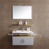 선반 (081)를 가진 황금 백색 형식 스테인리스 목욕탕 허영